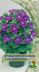 Броваллия красивая Сине-фиолетовая в упаковке 10шт арт744755