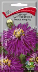 Цинния кактусовидная Лиловый император в упаковке 0.4гр арт580984