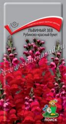 Львиный зев Рубиново-красный букет в упаковке 0.1гр арт350704