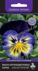 Виола крупноцветковая Карма  Блю Баттерфляй в упаковке 10шт арт744761